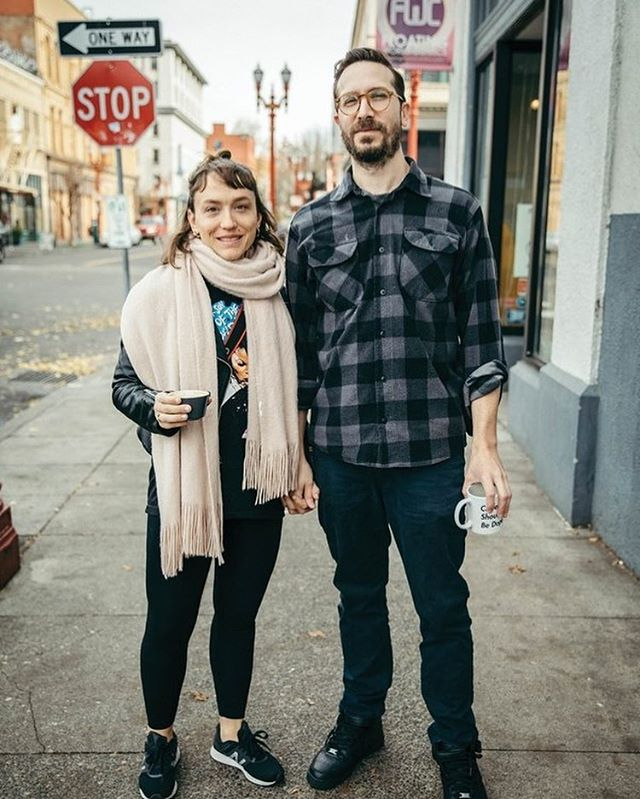 Thank you @samgehrkephotography and @willametteweek for the style shout out this week! ⠀ ☕⠀ ⠀ #stokedtohavehomies #portlandstyle #willametteweek #lovemyboo #needsomesunshineonmygreekskin⠀ ⠀