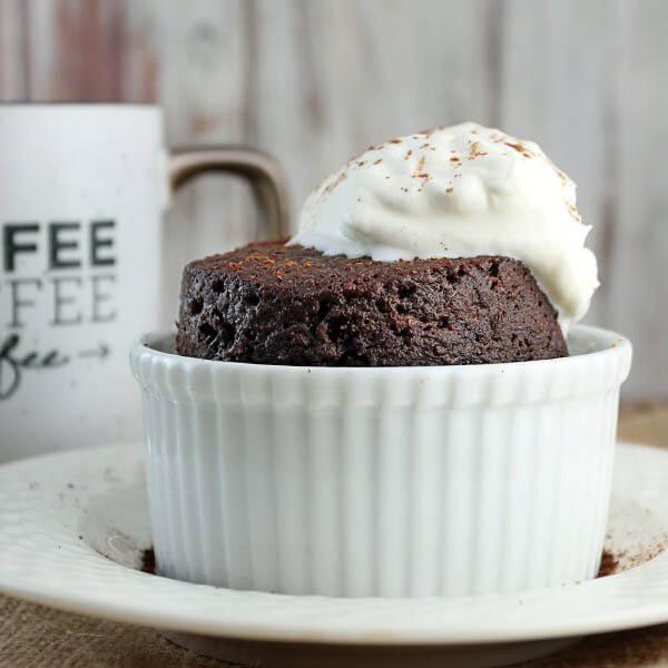 Keto Chocolate Cake in a Mug - Ruled.Me