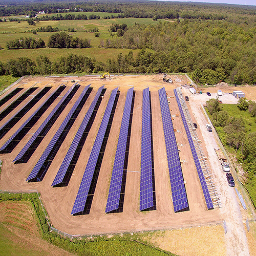 CYPRESS CREEK -  ADIRONDACK    1.68MW site    5184 modules installed    8 acre site