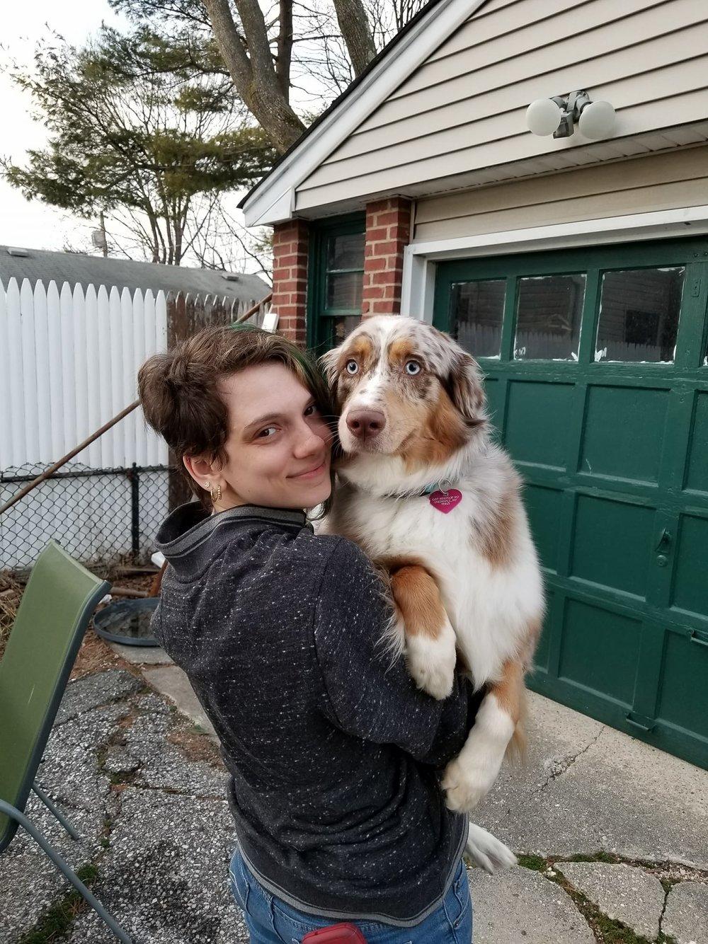 """""""Me with my pup, Pandora"""""""