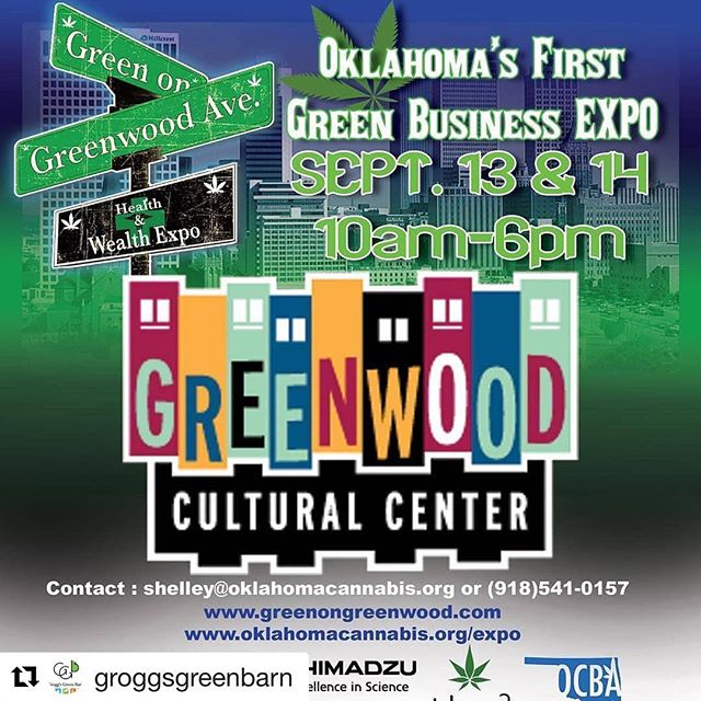 Excited to be at this show in our own backyard.  The whole gang will be there so stop by and say hi.  Thursday and Friday at the Greenwood Cultural Center 322 N Greenwood Ave. #greenongreenwood #oklahomacannabisindustry  #oklahomacannabis . . . . #ElfExtraction #ElfMfg #butane #madeinamerica #Holos20 #Extractor #Accurate #ASME #PSIreviewed #butaneextraction #CBDextraction #botanicalextraction #extractionequipment #BHO