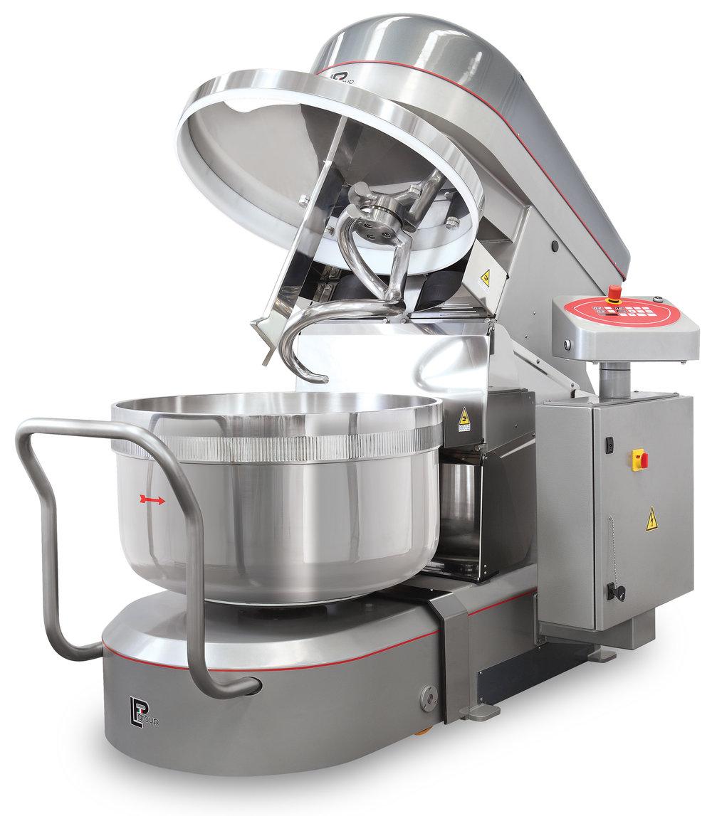 Spiral mixer detachable bowl