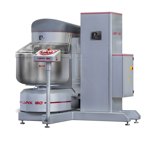 Spiral mixer with integrated lifter