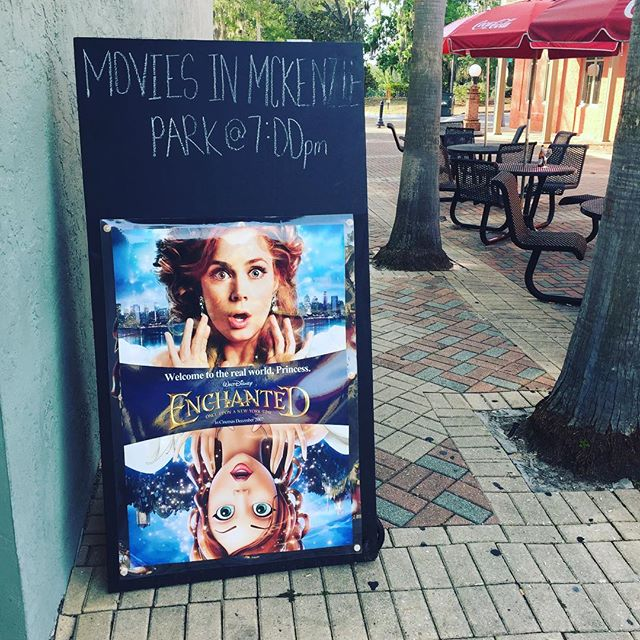 Come see Enchanted on the big screen in McKenzie Park this Saturday night! It'll be magical. #downtownpanamacity