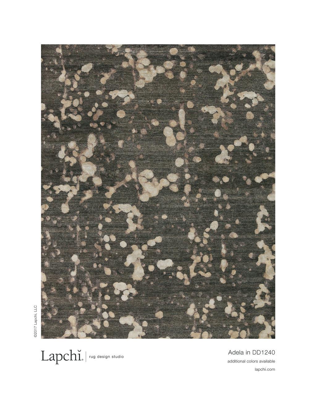 Adela area rug from Lapchi rug design studio.