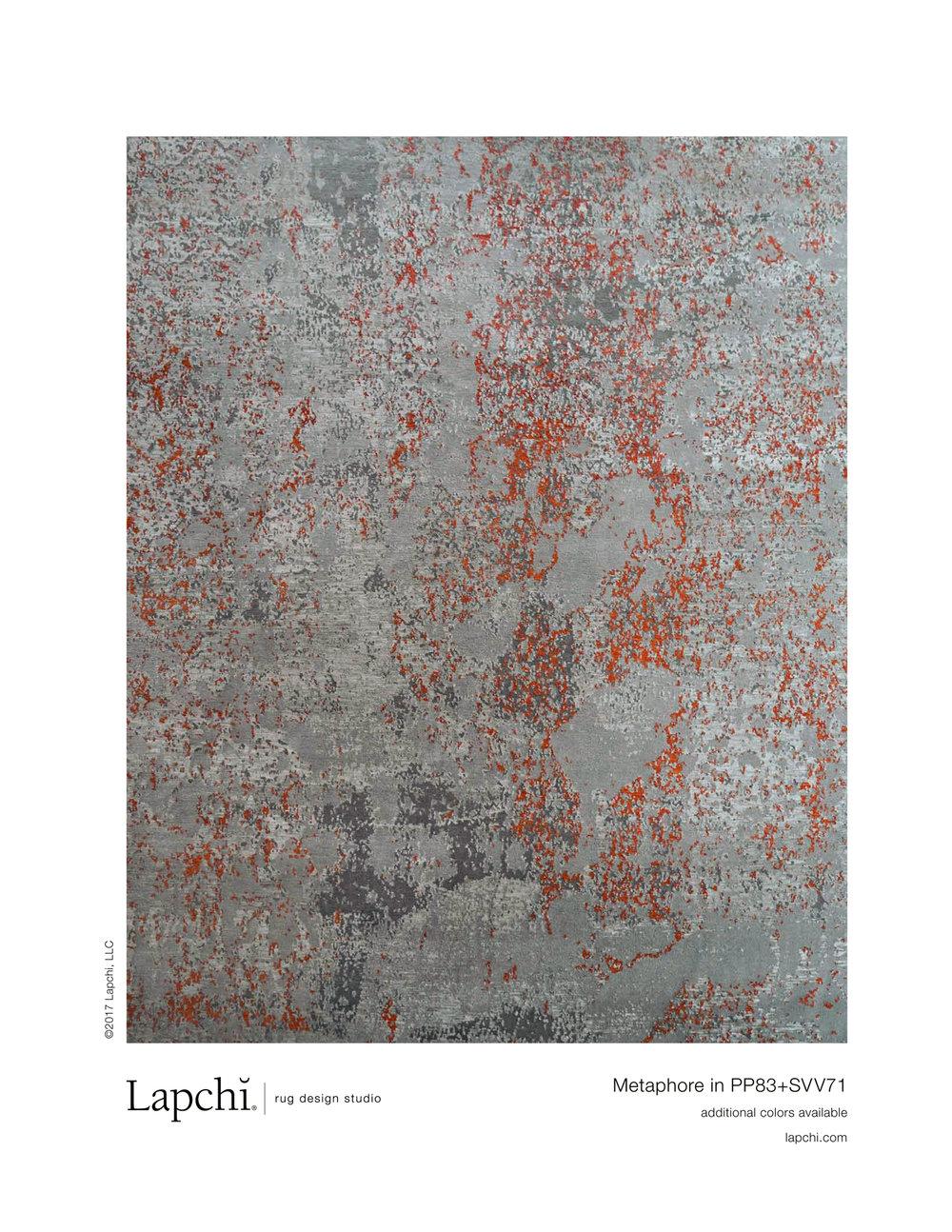 Metaphore area rug from Lapchi rug design studio.