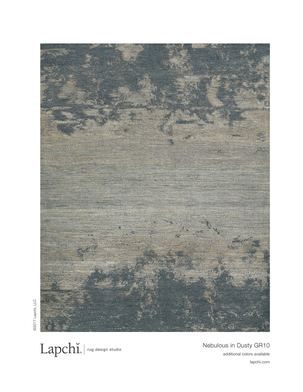 Nebulous area rug in dusty from Lapchi rug design studio.