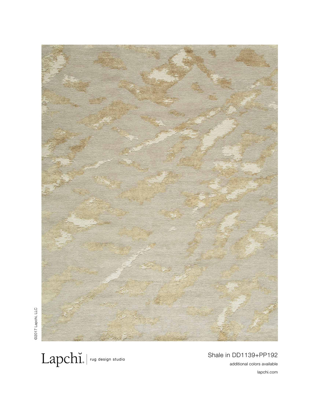 Shale area rug from Lapchi rug design studio.