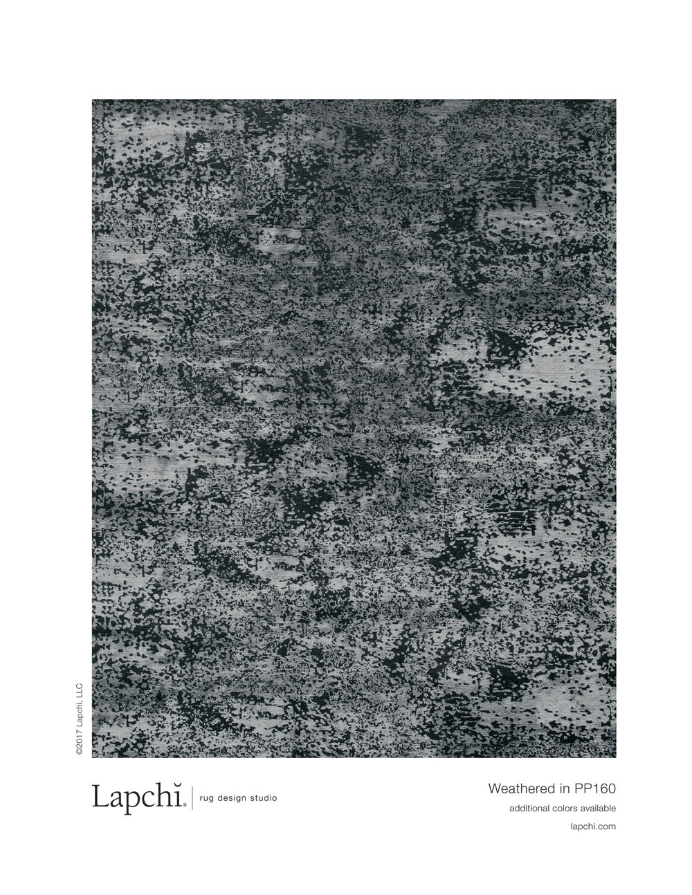 Weathered area rug from Lapchi rug design studio.