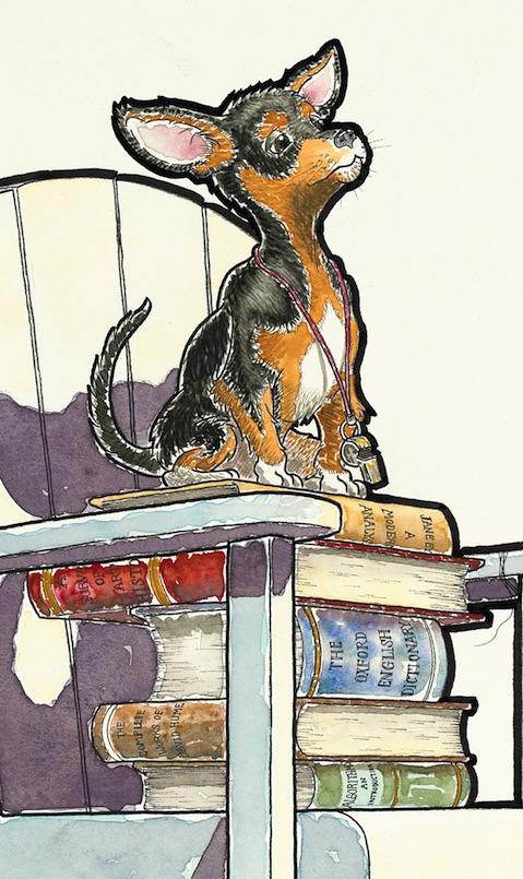 Watchdog (detail)  pen & ink, watercolor