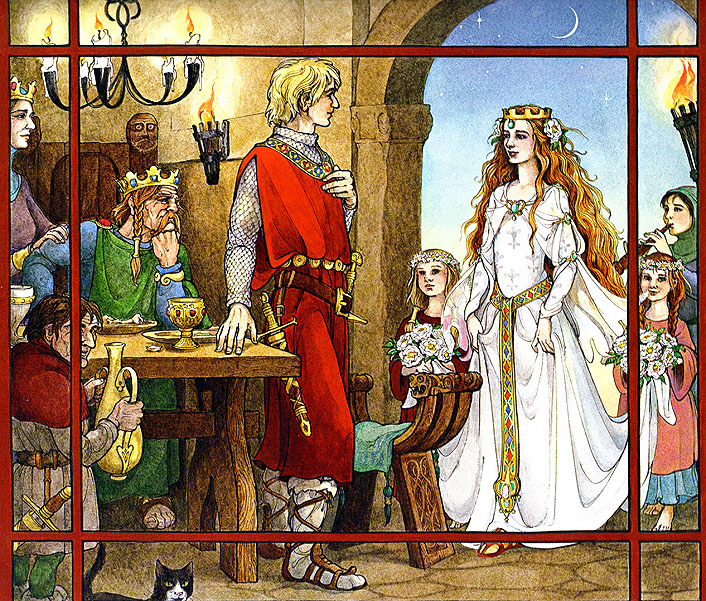 Trina Schart Hyman - Saint George and the Dragon Boston : Little, Brown and Company, [1984] ©1984.  This illustration is perhaps my favorite of all time.  It is absolute perfection.