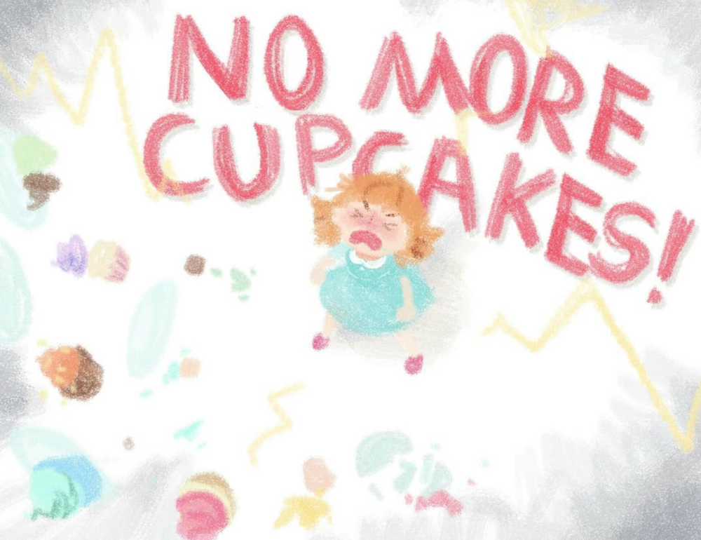 "Page from ""Cupcakes"" children's book assignment  2017"