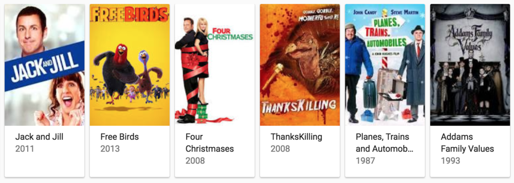 Ah, my favorite Thanksgiving movie:  Four Christmases