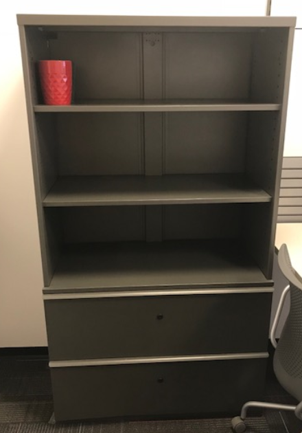 Lateral File with Shelving