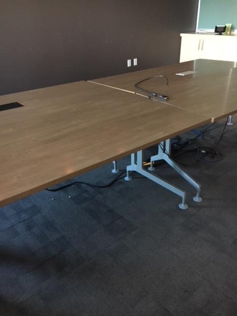 Walnut Finish Flat Top Tables