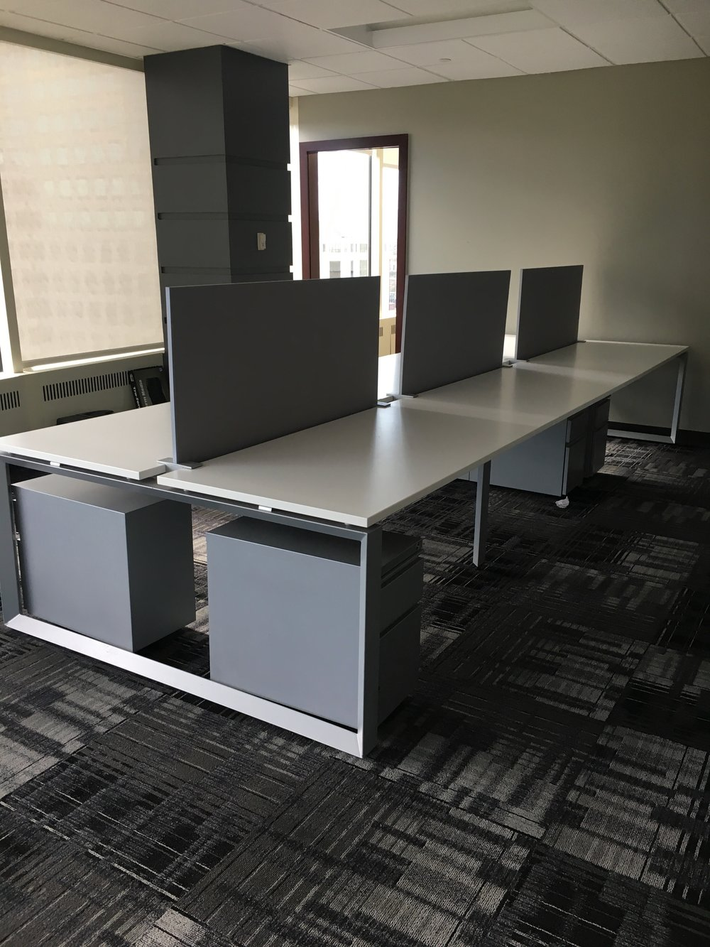 6 Top Work Tables with Dividers