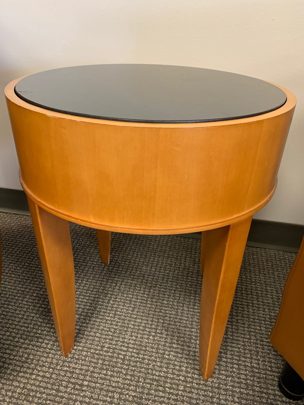 Round Guest Table with Glass Top