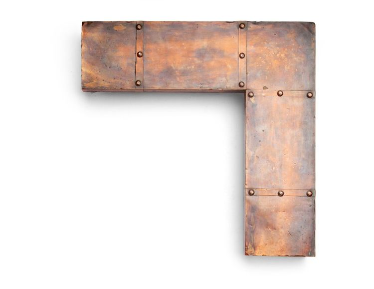 Copper Rivet Edge This 3-1/2 inch riveted copper frame has panels of copper plating around the inner rabbet lip and outside edge, reinforced by an internal wood substrate and rivets. The bright copper patina finish will naturally age over time.