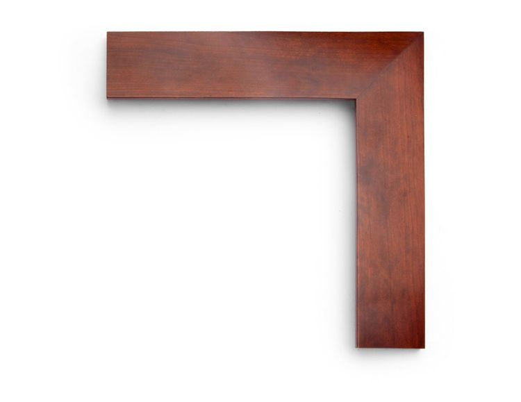 "Splined Cherry Satin A 2-1/2 inch hardwood frame in cherry, stained in ""satin plus"" finish, with a reverse slant face and splined corners."