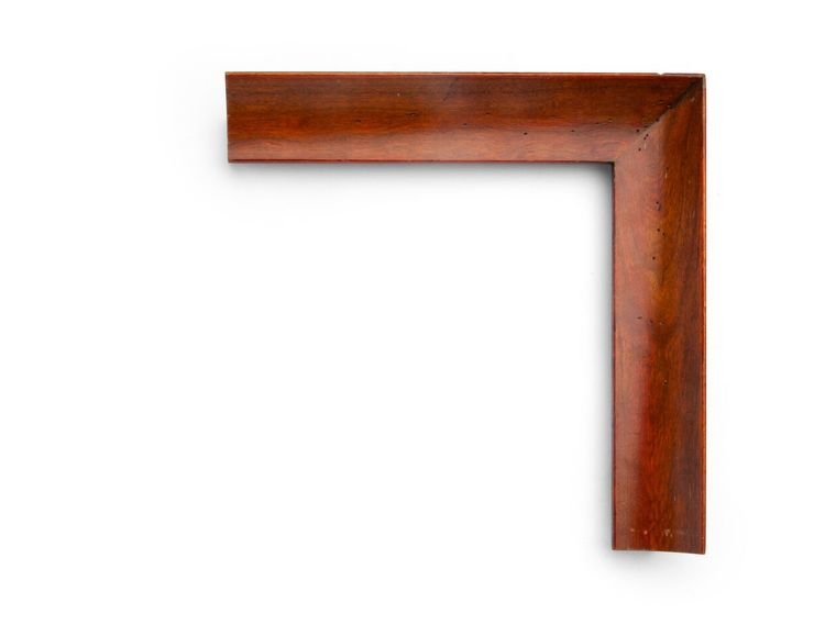 Antique English Wax A 2 inch hardwood frame in cherry, double stained in an antique brown English wax finish, with a sweeping cove and antiquing throughout.