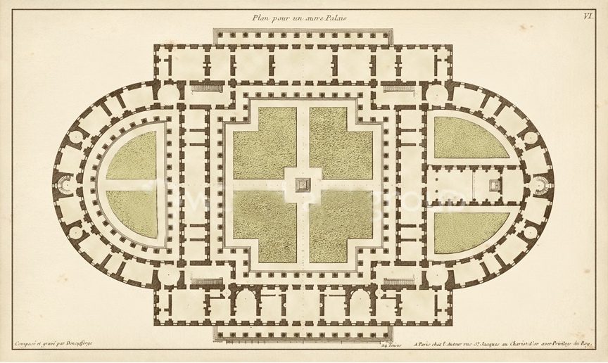 Antique Garden Plan 4