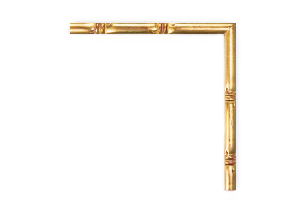 "Simple Gold Bamboo  1/2"" 22kt Gold over Red Bamboo"