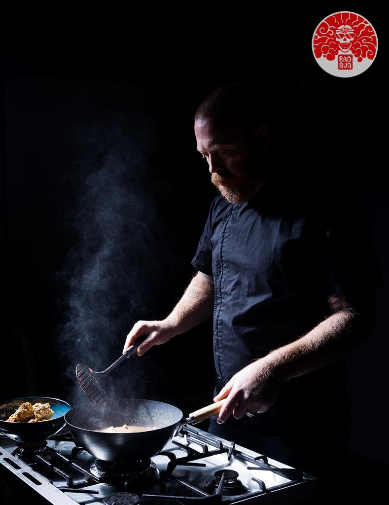 BaoBun Restaurant - Kitchen Chef Stirfry