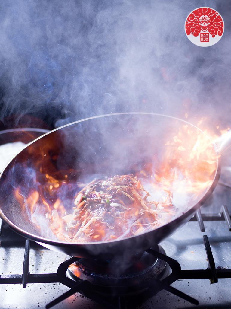 BaoBun Restaurant - Stir Fry Fire Action