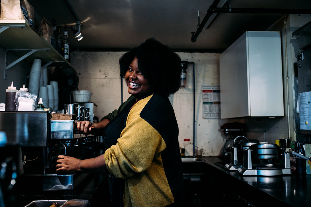 april - began my personal project, photographing women owned businesses in seattle.