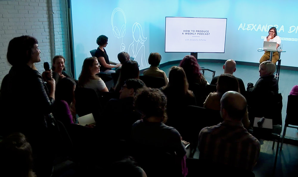 sept - attended podcasting week at creative live and pitched my female founders project in front of millions of viewers.
