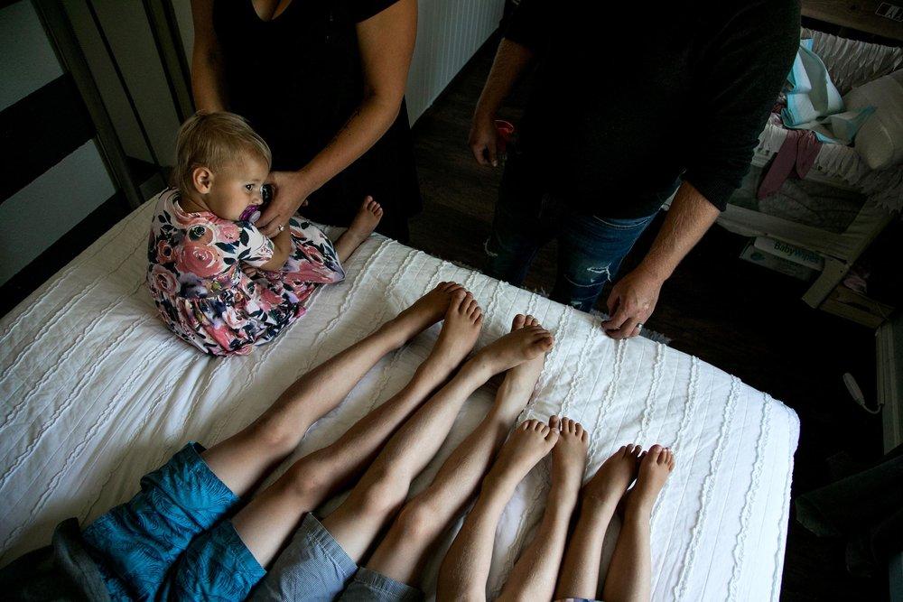 in home newborn photography by documentary family photographer Anna Nodolf
