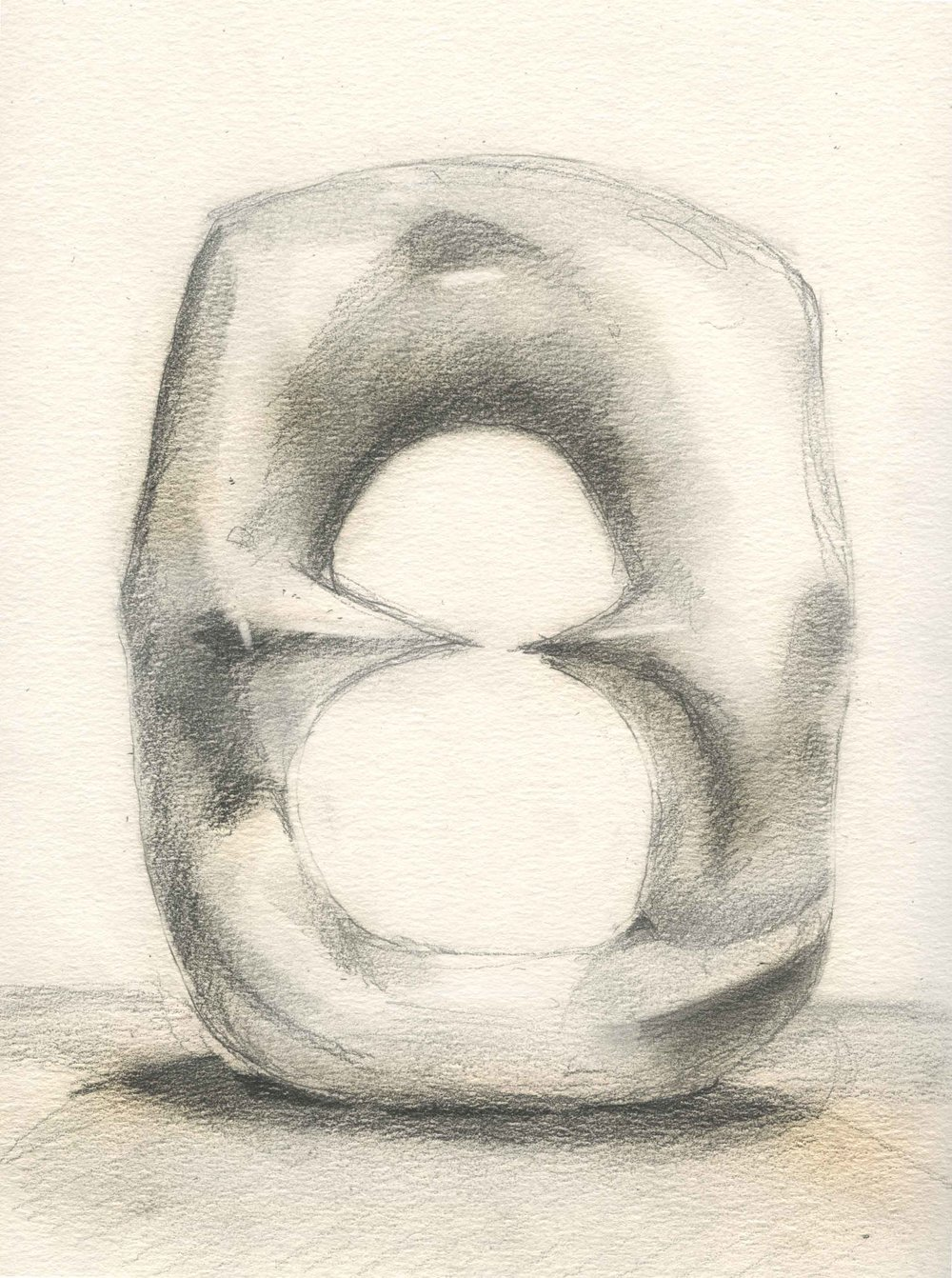 Henry Moore - Oval with points.