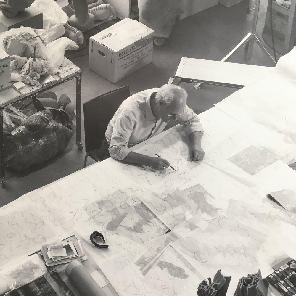 Tony Cragg in his studio.
