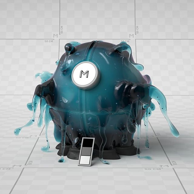 Years ago I did these shaderballs for @man.vs.machine , this one was for liquids!  #mvsm #c4d #redshift #liquid #shaderballs