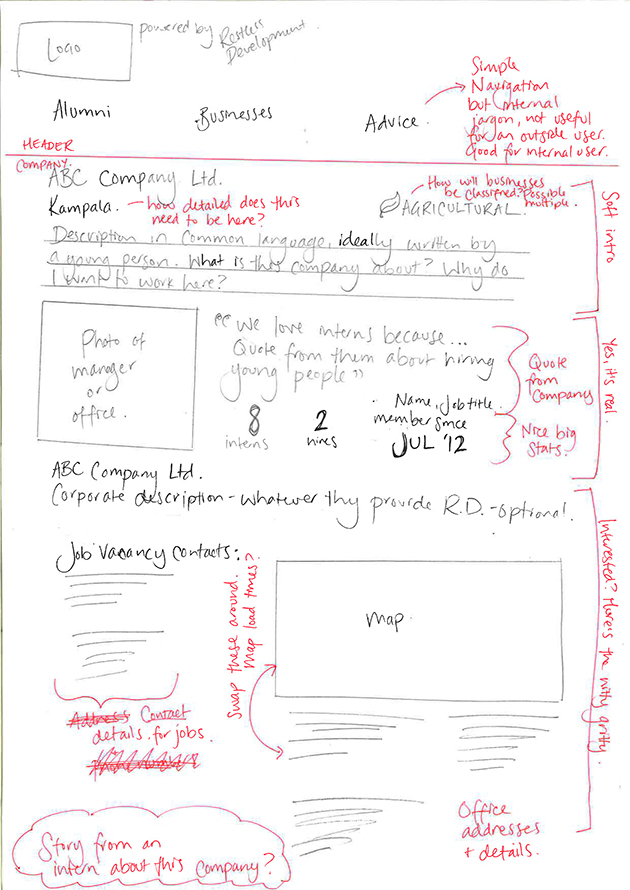 Paper prototyping was used for initial rounds of user testing.