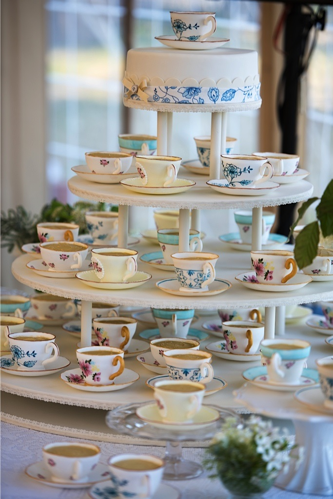 blue and yellow teacup tower.jpg