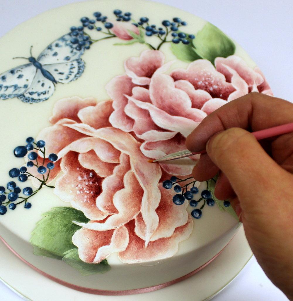 Emily Hankins - Roses, butterflies and berries - painting.JPG