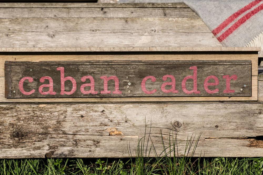 Caban Cader sign
