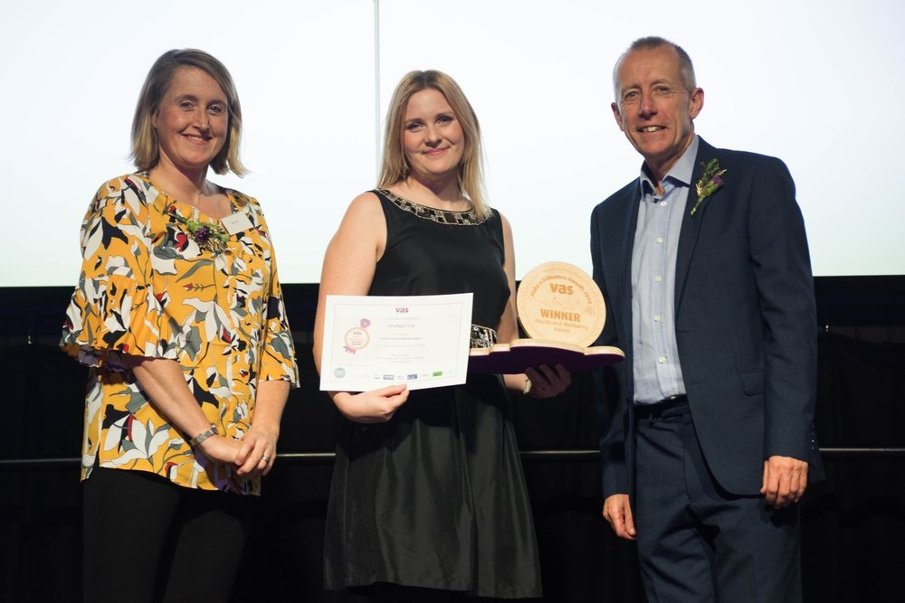 Pictured: Becky Joyce (Sheffield Clinical Commissioning Group), Beth Stout (CEO, Golddigger Trust), and Andy Buck (Chair, VAS)