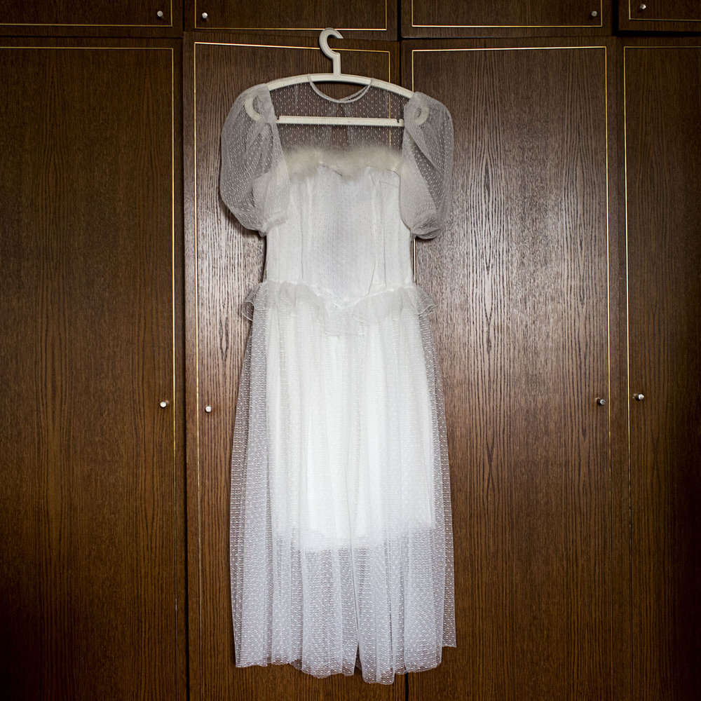 Elvira's wedding dress.