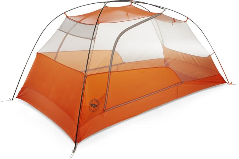 Big Agnes Copper Spur HV UL2 Is a relatively spacious fully-freestanding double-wall shelter.