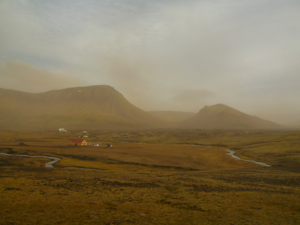 in Hvanngil there is a Hut that sleeps 60 people, as well as a sheltered campground inside an old lava field.