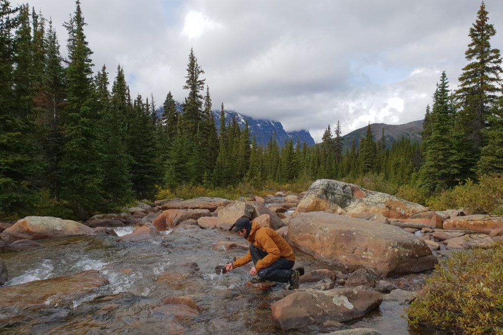 Water is plentiful in the Tonquin Valley.