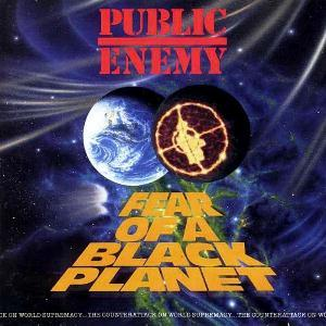 Cover for the album    Fear of a Black Planet    by the artist    Public Enemy    via wikipedia