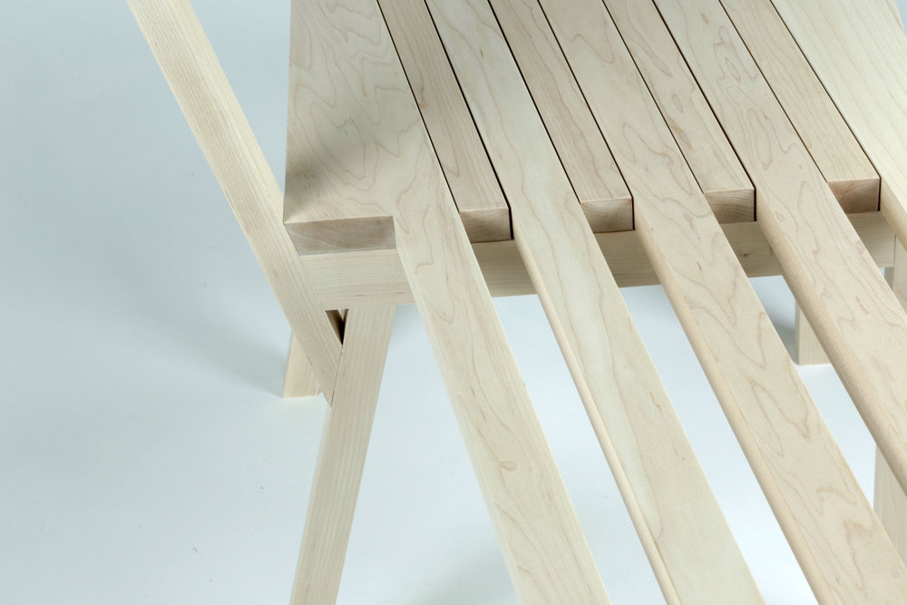 chair bench joint and slats