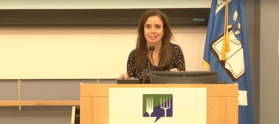 Founder of Food Tank, Danielle Nierenberg, challenges attendees to make Boston a model of sustainability that can be scaled up and out for the rest of the world.