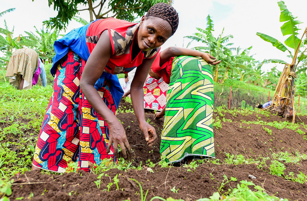 Our partners at the ADC Masoro Kate Spade factory in Masoro, located just outside of Kigali. GHI administered nutrition curriculum and has helped start a garden for the factory workers.