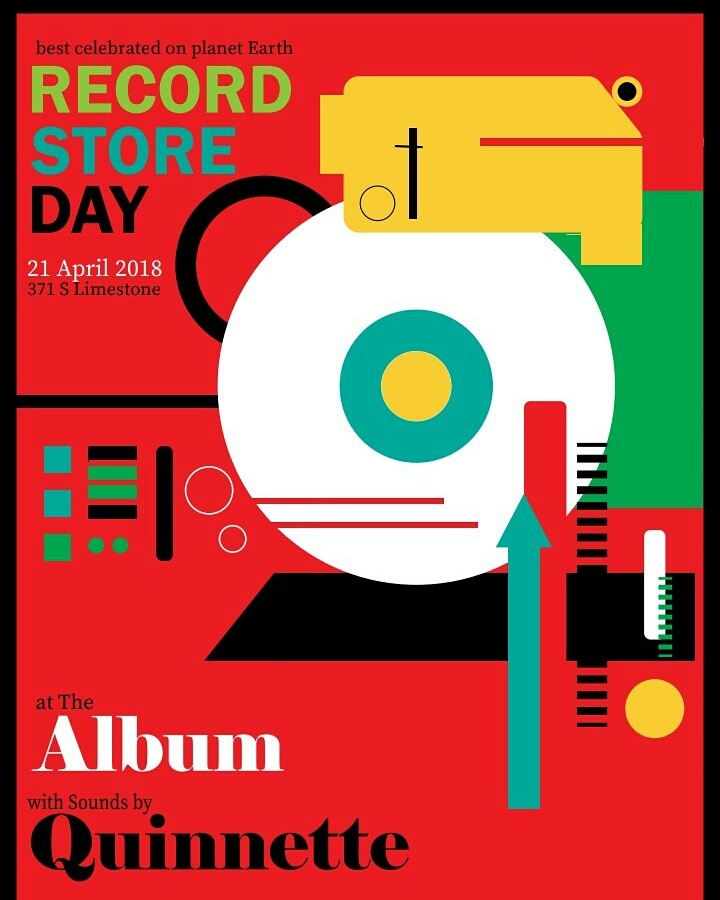 An event curated by Quinnette in celebration of National Record Store day! Poster made by Jamari Turner. Contact jamari.turner@outlook.com