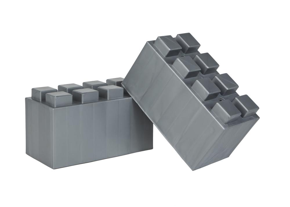 - EverBlock har en praktisk geometrisk form av 2: 1: 1