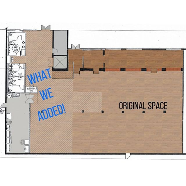 We can't wait to share the improved Byron's South End with you! Here's a sneak peek at the additional square footage we have gained. We've increased from 4,700 to 8,000 square feet!